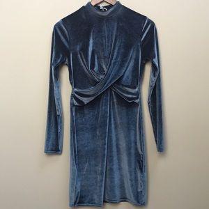 Velvet Topshop Mock Neck Dress